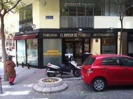 "Licencias Express - Exterior restaurante ""El rincón de Pardiñas"""